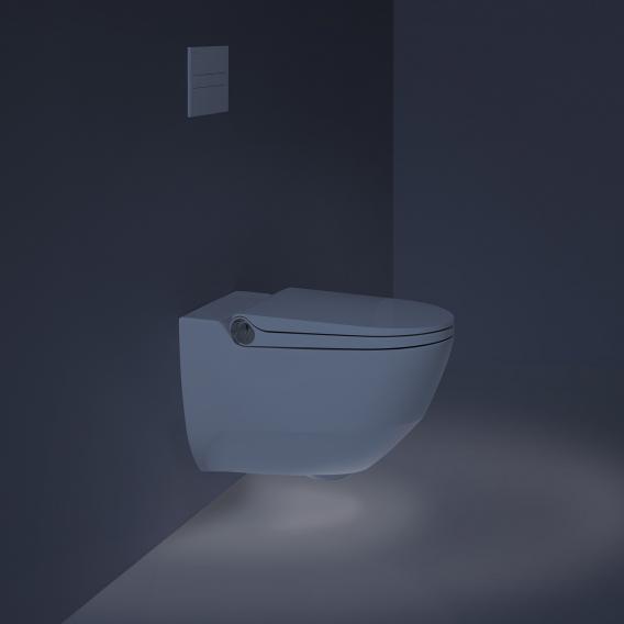 Laufen Cleanet Riva Dusch-WC Komplettanlage, mit WC-Sitz weiß mit Clean Coat