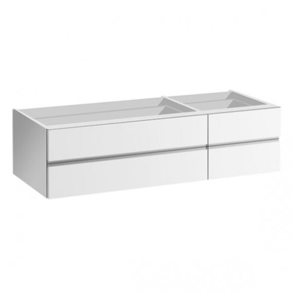 Laufen IL BAGNO ALESSI One Waschtischunterschrank für Aufsatzwaschtisch mit 4 Auszügen Schublade links / Front weiß / Korpus weiß