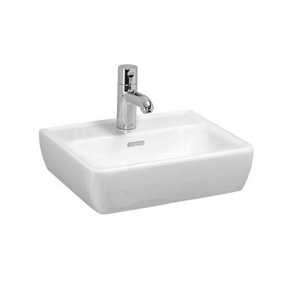 Laufen Pro A Handwaschbecken weiß, mit 1 Hahnloch, ungeschliffen