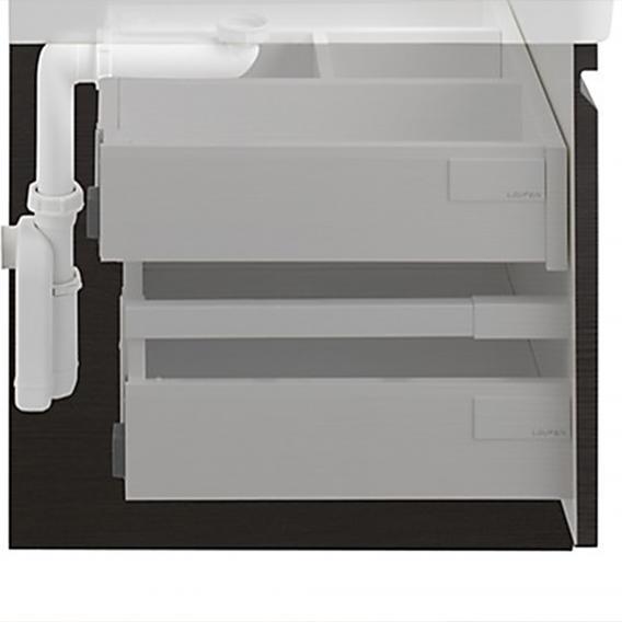 Laufen Pro A Waschtischunterschrank mit 1 Auszug Front weiß matt / Korpus weiß matt, mit Innenschublade