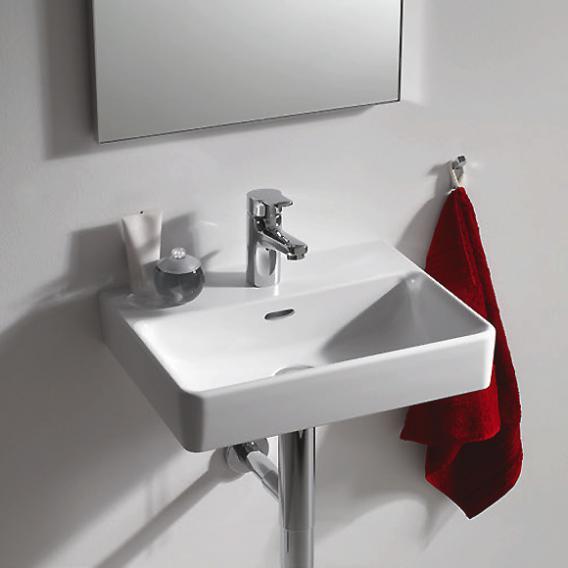 Laufen Pro S Handwaschbecken weiß, mit Clean Coat, mit 1 Hahnloch, ungeschliffen, mit Überlauf