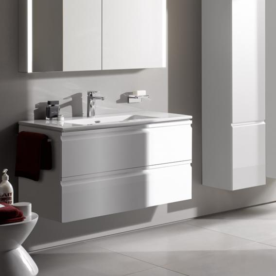 Laufen Pro S Waschtisch mit Waschtischunterschrank mit 2 Auszügen Front weiß glanz / Korpus weiß glanz, mit 1 Hahnloch