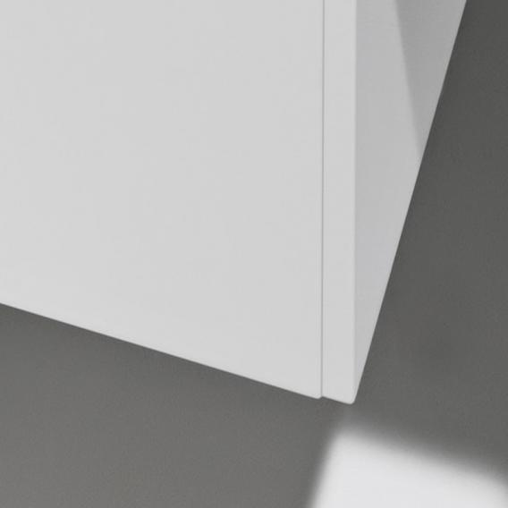 Laufen Pro S Waschtischunterschrank mit 1 Tür und Seitenablage Front weiß matt / Korpus weiß matt