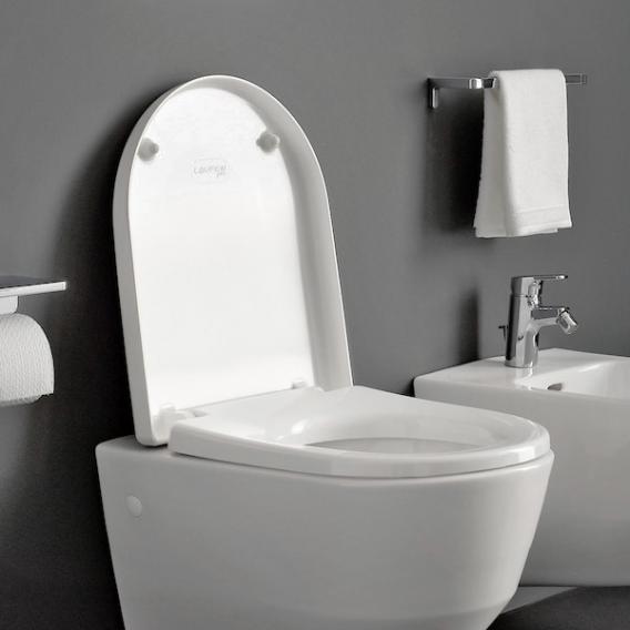 Laufen Pro WC-Sitz mit Deckel für verdeckte Befestigung weiß, mit Absenkautomatik