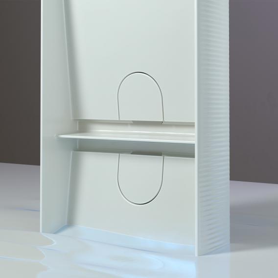 Laufen SONAR Doppelwaschtisch-Schale mit Textur weiß, mit Clean Coat
