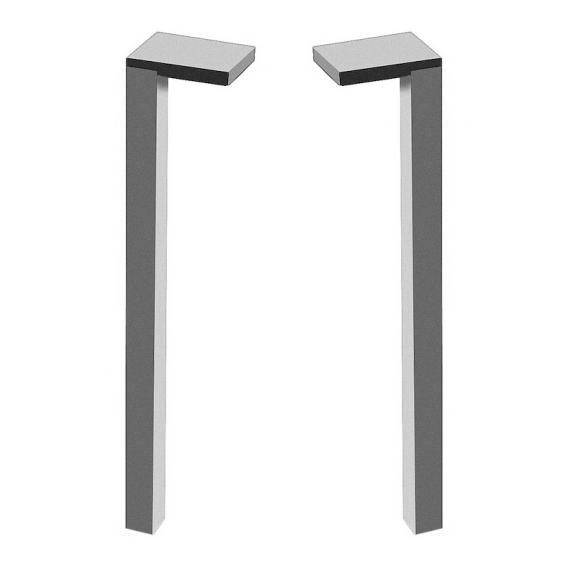 Laufen Space Füße für Badmöbel, 2er Set aluminium