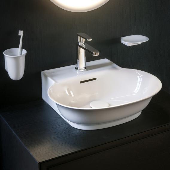 LAUFEN The New Classic Handwaschbecken weiß, mit 1 Hahnloch, mit Überlauf, geschliffen
