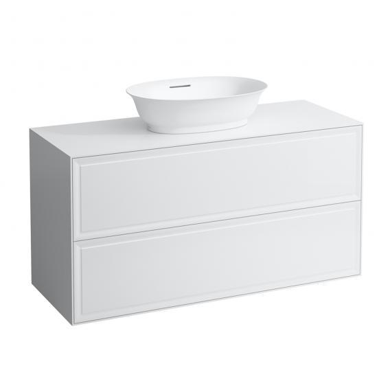 Laufen The New Classic Waschtischunterschrank für Aufsatzwaschtisch mit 2 Auszügen Front weiß glanz / Korpus weiß glanz