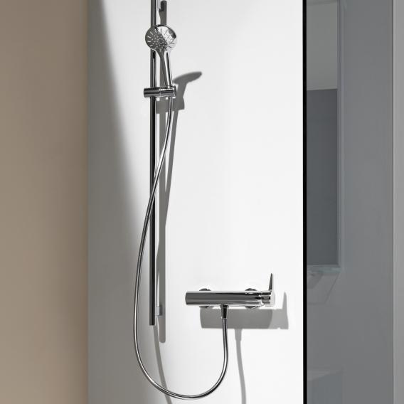 Laufen VAL Einhand-Duschenmischer, für Wandmontage, mit Brausegarnitur, für die Schweiz