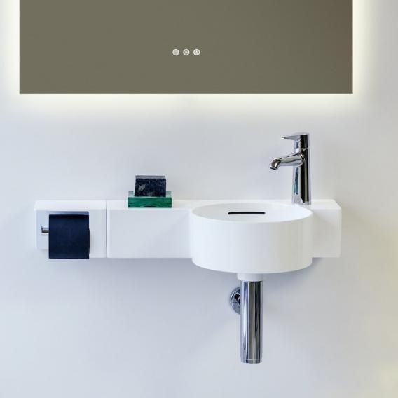 Laufen VAL Handwaschbecken weiß mit LCC (Laufen Clean Coat), 1 Hahnloch
