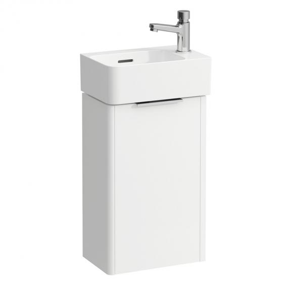 Laufen VAL Waschtisch mit Waschtischunterschrank mit 1 Tür, mit 1 Hahnloch Front weiß matt / Korpus weiß matt