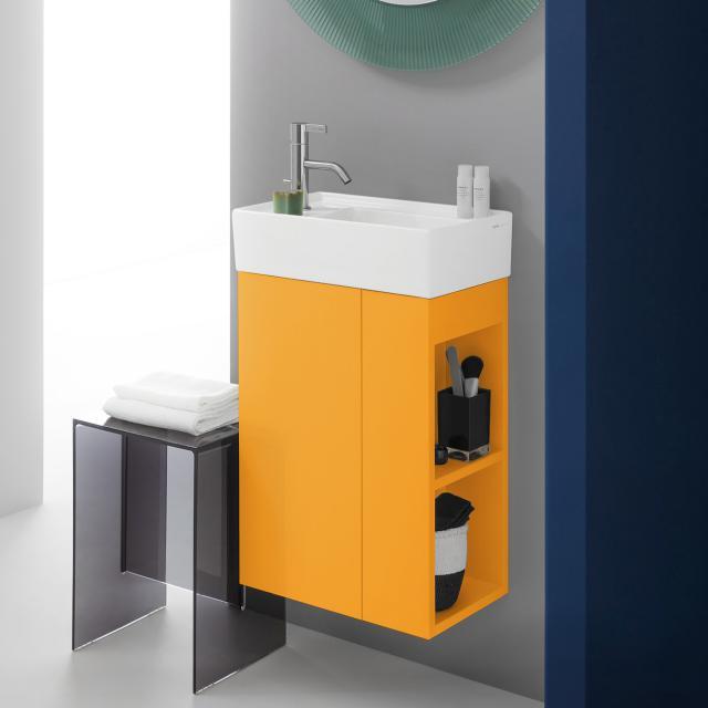 Kartell by LAUFEN Handwaschbeckenunterschrank mit 1 Tür Front ockerbraun / Korpus ockerbraun