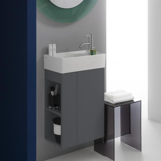 Kartell by LAUFEN Handwaschbeckenunterschrank mit 1 Tür Front schiefer / Korpus schiefer