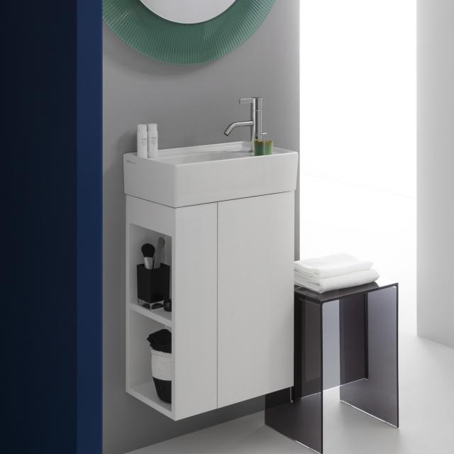 Kartell by LAUFEN Handwaschbeckenunterschrank mit 1 Tür Front weiß matt / Korpus weiß matt