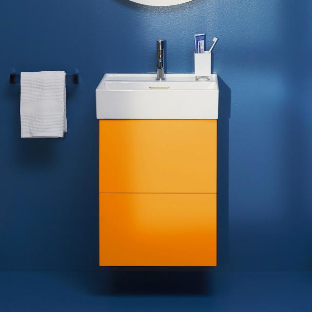Kartell by LAUFEN Handwaschbeckenunterschrank mit 2 Auszügen Front ockerbraun / Korpus ockerbraun