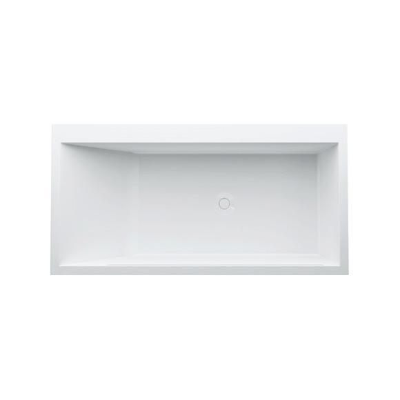 Kartell by Laufen Rechteck-Badewanne mit LED-Beleuchtung