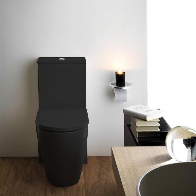 Kartell by Laufen Stand-Tiefspül-WC für Kombination, spülrandlos schwarz