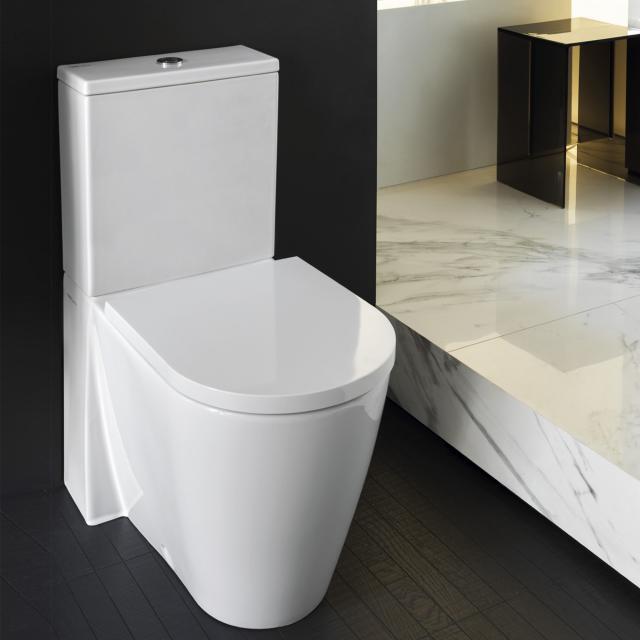 Kartell by LAUFEN Stand-Tiefspül-WC für Kombination, spülrandlos weiß