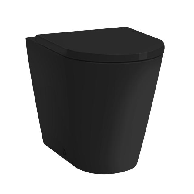 Kartell by LAUFEN Stand-Tiefspül-WC, spülrandlos schwarz