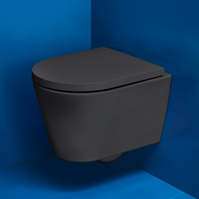 Kartell by Laufen Wand-Tiefspül-WC Compact, spülrandlos graphit matt