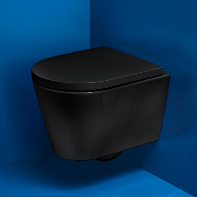 Kartell by LAUFEN Wand-Tiefspül-WC Compact, spülrandlos schwarz