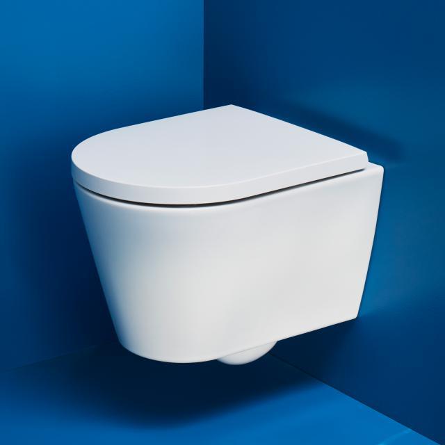 Kartell by Laufen Wand-Tiefspül-WC Compact, spülrandlos weiß matt