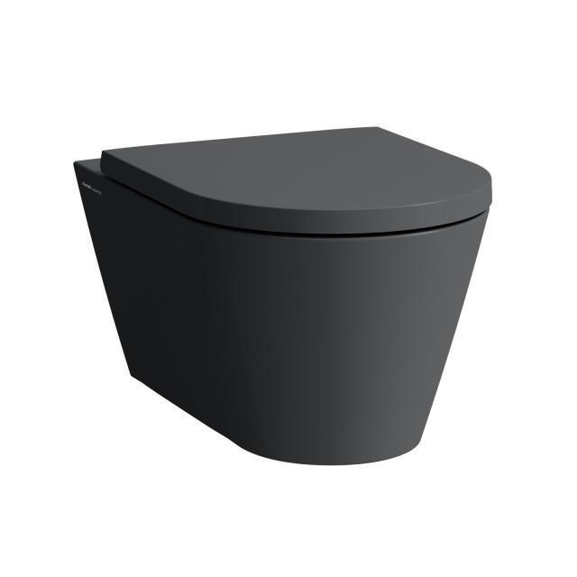 Kartell by Laufen Wand-Tiefspül-WC, spülrandlos graphit matt