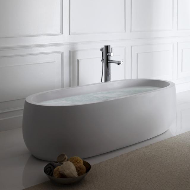 LAUFEN Alessi One Freistehende Oval-Badewanne mit LED-Beleuchtung