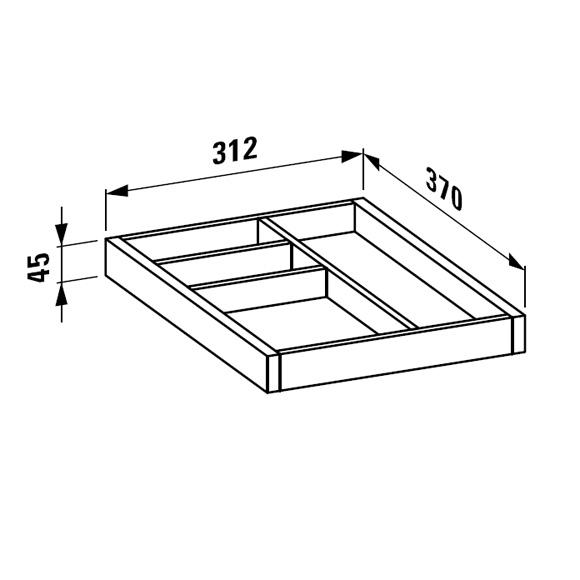 LAUFEN Alessi One Ordnungssystem für Schubladen weiß lackiert