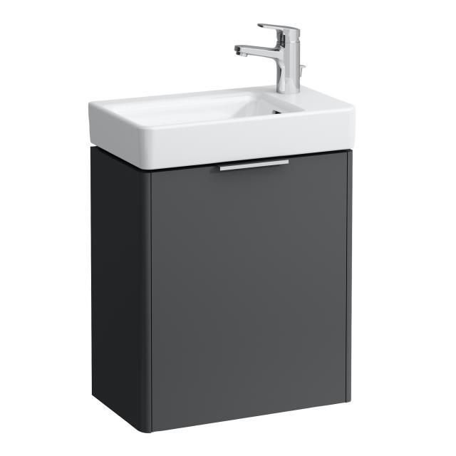 LAUFEN Base für Pro S Handwaschbeckenunterschrank mit 1 Tür Front verkehrsgrau / Korpus verkehrsgrau