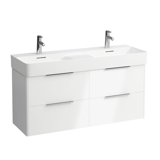 Laufen Base für VAL Waschtischunterschrank mit 4 Auszügen Front weiß glanz / Korpus weiß glanz