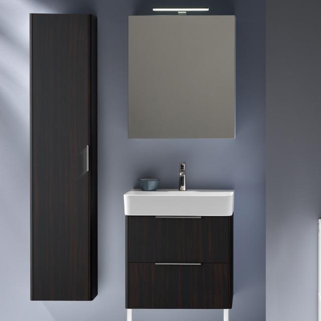 LAUFEN Base für VAL Waschtischunterschrank mit 2 Auszügen Front ulme dunkel / Korpus ulme dunkel