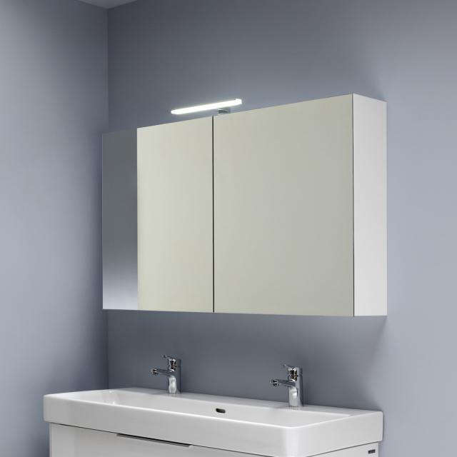 LAUFEN Base Spiegelschrank mit LED-Beleuchtung weiß hochglanz