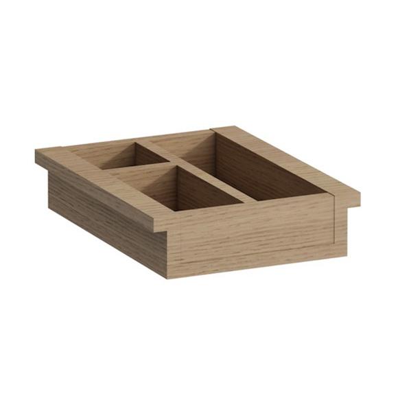 Laufen Boutique Ordnungssystem für kleine Schublade eiche hell