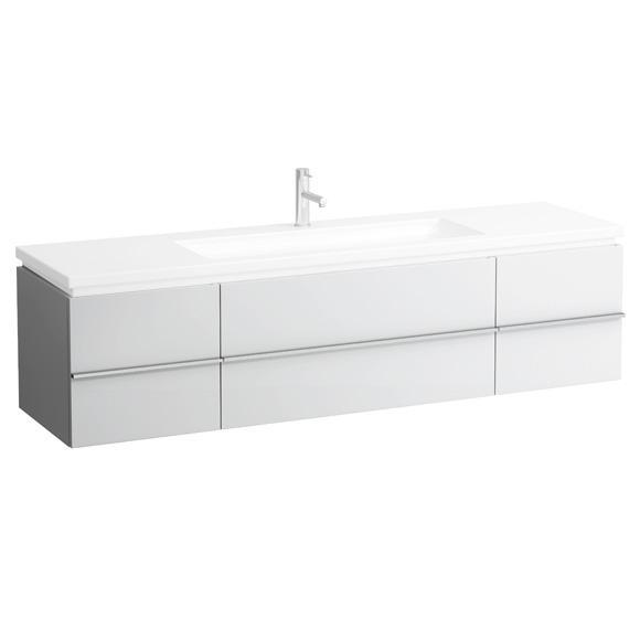 LAUFEN Case for Living Square Waschtischunterschrank mit 2 Auszüge und 2 Türen Front weiß matt / Korpus weiß matt