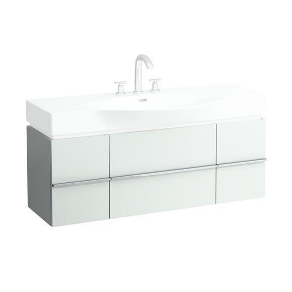 LAUFEN Case for Palace Waschtischunterschrank mit 2 Auszügen und 2 Türen Front weiß glanz / Korpus weiß glanz