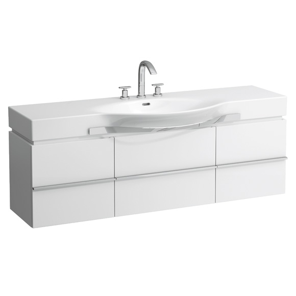 Laufen Case for Palace Waschtischunterschrank mit 1 Auszug und 2 Türen Front weiß matt / Korpus weiß matt