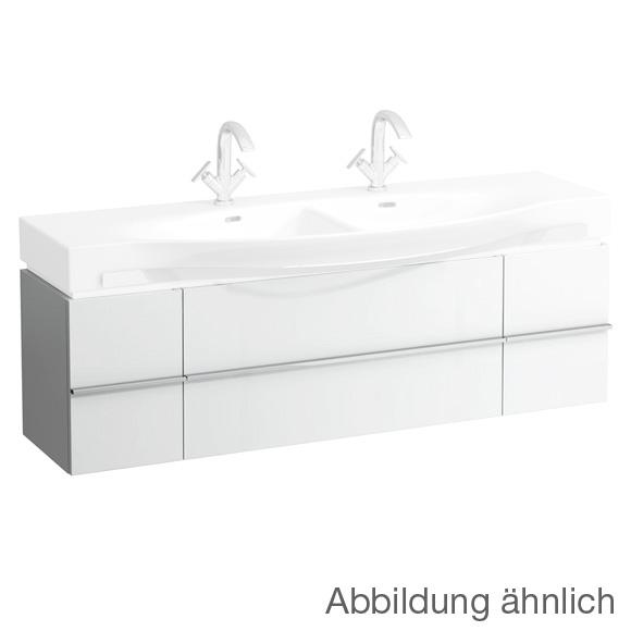 LAUFEN Case for Palace Waschtischunterschrank für Doppelwaschtisch mit 2 Auszügen und 2 Türen Front weiß matt / Korpus weiß matt