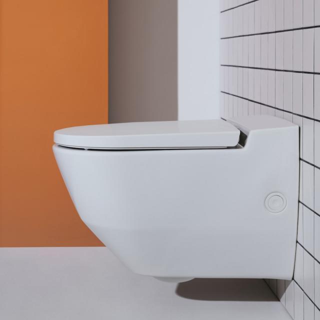 Laufen Cleanet Navia Dusch-WC Komplettanlage, mit seitlicher Öffnung für externen Wasseranschluss, mit WC-Sitz weiß matt