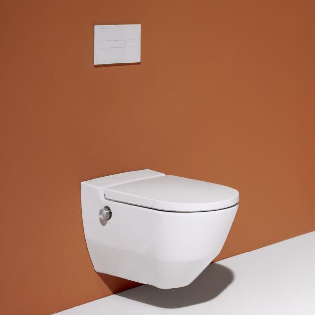 Laufen Cleanet Navia Dusch-WC Komplettanlage, mit WC-Sitz weiß matt