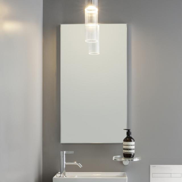 Laufen frame 25 Spiegel ohne Licht silber eloxiert
