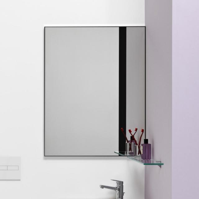 Laufen frame 25 Spiegel ohne Licht schwarz matt
