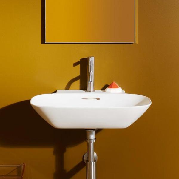 LAUFEN INO Handwaschbecken weiß, mit Clean Coat mit 1 Hahnloch, ungeschliffen, mit Überlauf