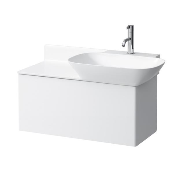 Laufen INO Waschtisch mit Waschtischunterschrank mit 1 Auszug weiß, mit 1 Hahnloch, ohne Überlauf