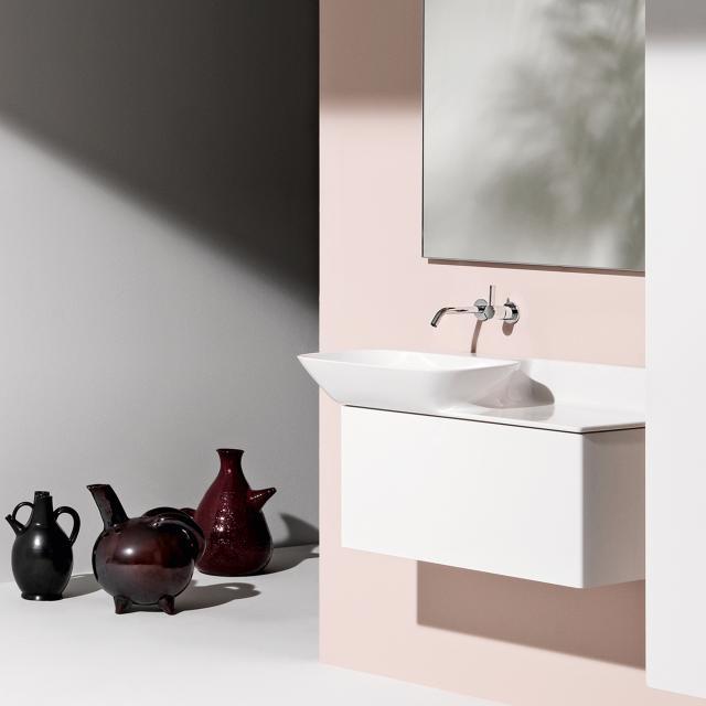 LAUFEN INO Waschtischunterschrank mit 1 Auszug Front weiß matt / Korpus weiß matt