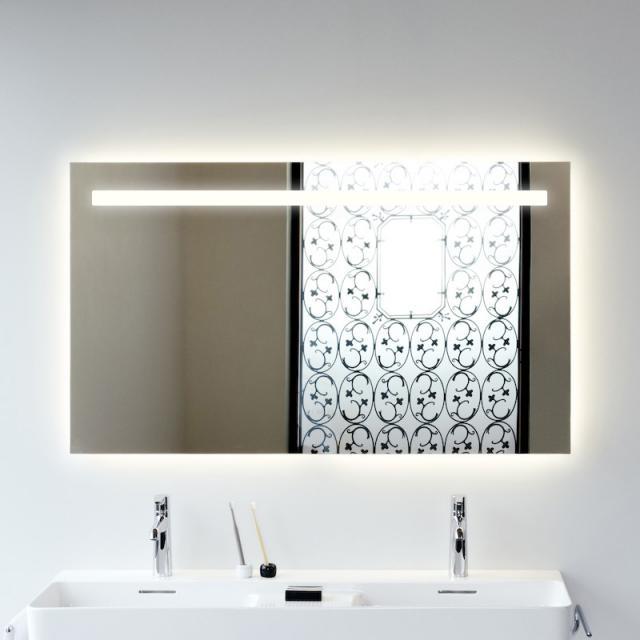 Laufen Leelo LED-Spiegel 6000 K, mit Ein-/Aus-Touchdimmer und Ambientelicht
