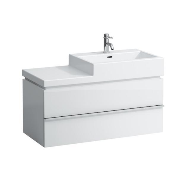 Laufen Living City Waschtisch mit Case Waschtischunterschrank mit 2 Auszügen weiß, mit 1 Hahnloch