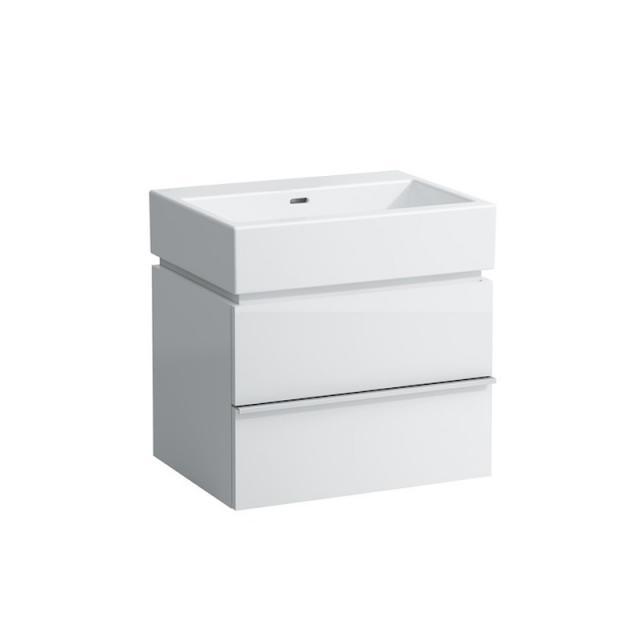 LAUFEN Living City Waschtisch mit Waschtischunterschrank mit 2 Auszügen weiß, ohne Hahnloch
