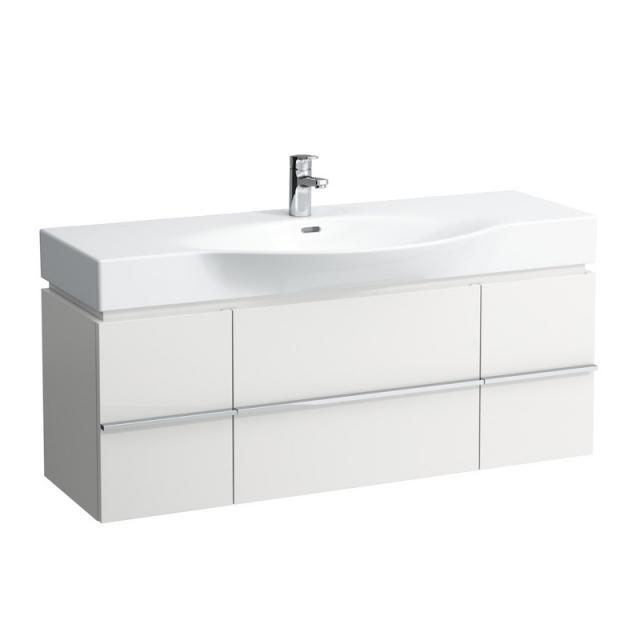 LAUFEN Palace Waschtisch mit Case Waschtischunterschrank mit 2 Auszügen und 2 Türen weiß, mit 1 Hahnloch