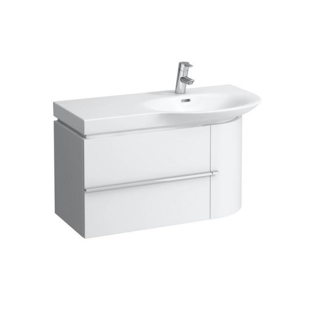 Laufen Palace Waschtisch mit Case Waschtischunterschrank mit 1 Auszug und 1 Tür weiß, mit 1 Hahnloch